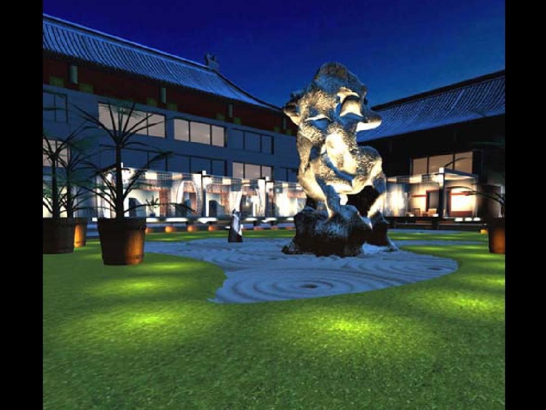 "ttzp北京大观园酒店景观设计--""听雨,闻禅""阿弥陀佛图片"
