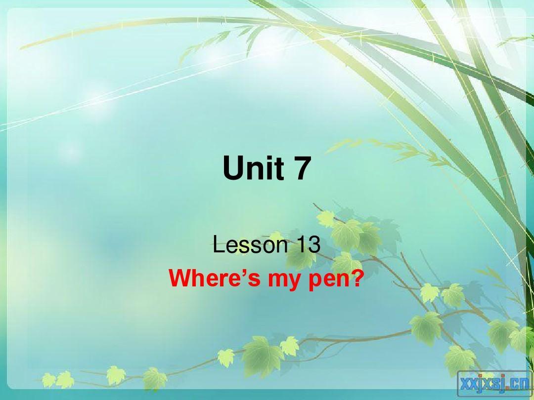 新概念青少版1A第七单元课件PPT