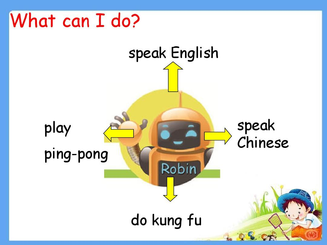 what can i do? speak english