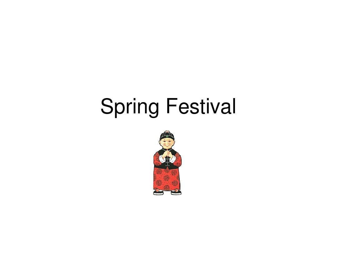 春节英文ppt图片