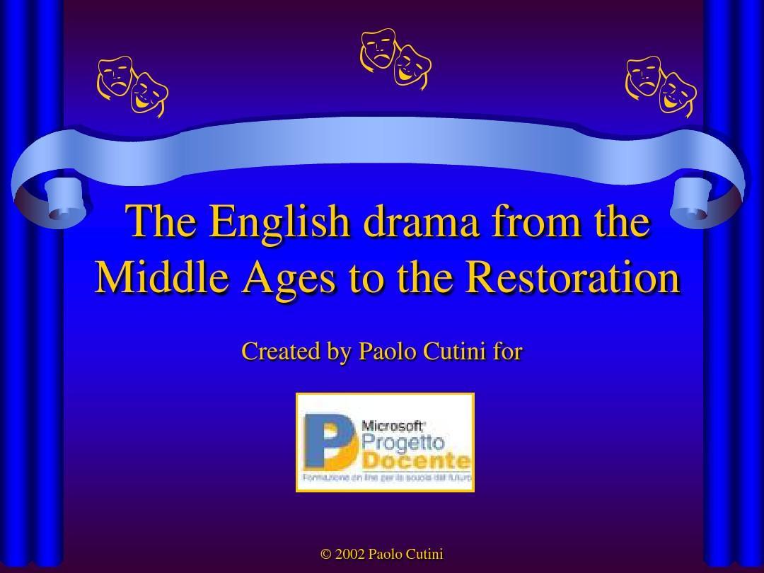 English drama - Atuttascuola - Portale delle risorse