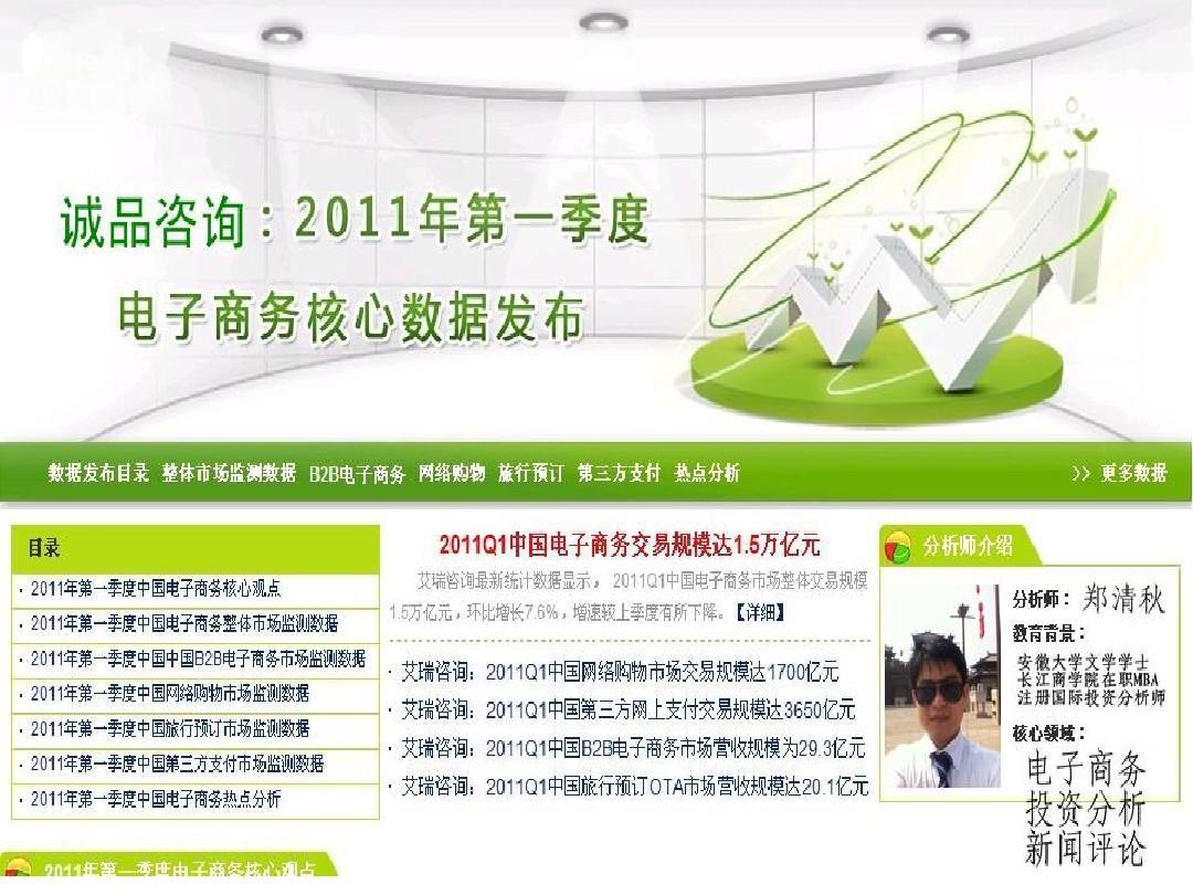 2011Q1中国电子商务市场核心数据以及市场分析