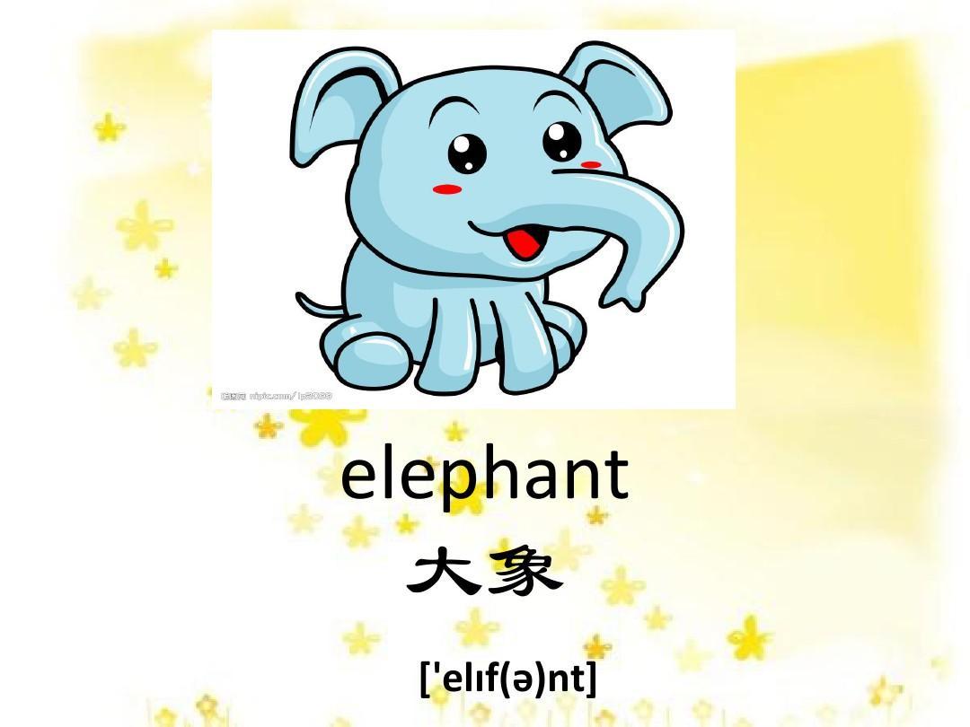 小动物的英语单词ppt(带音标)