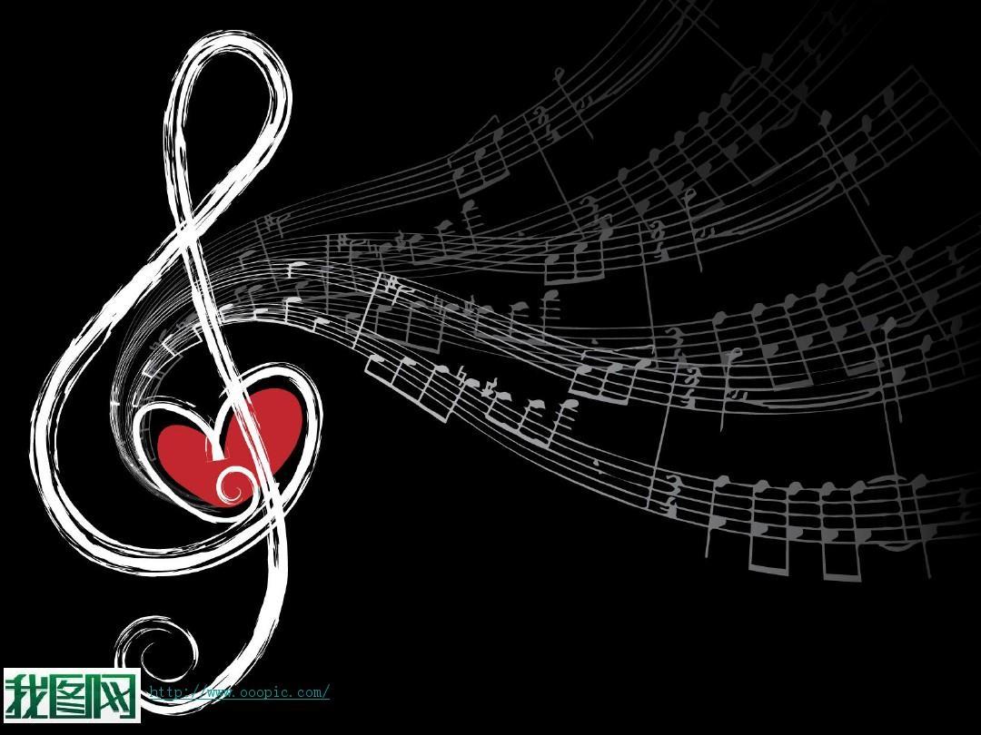 音乐旋律ppt模板图片