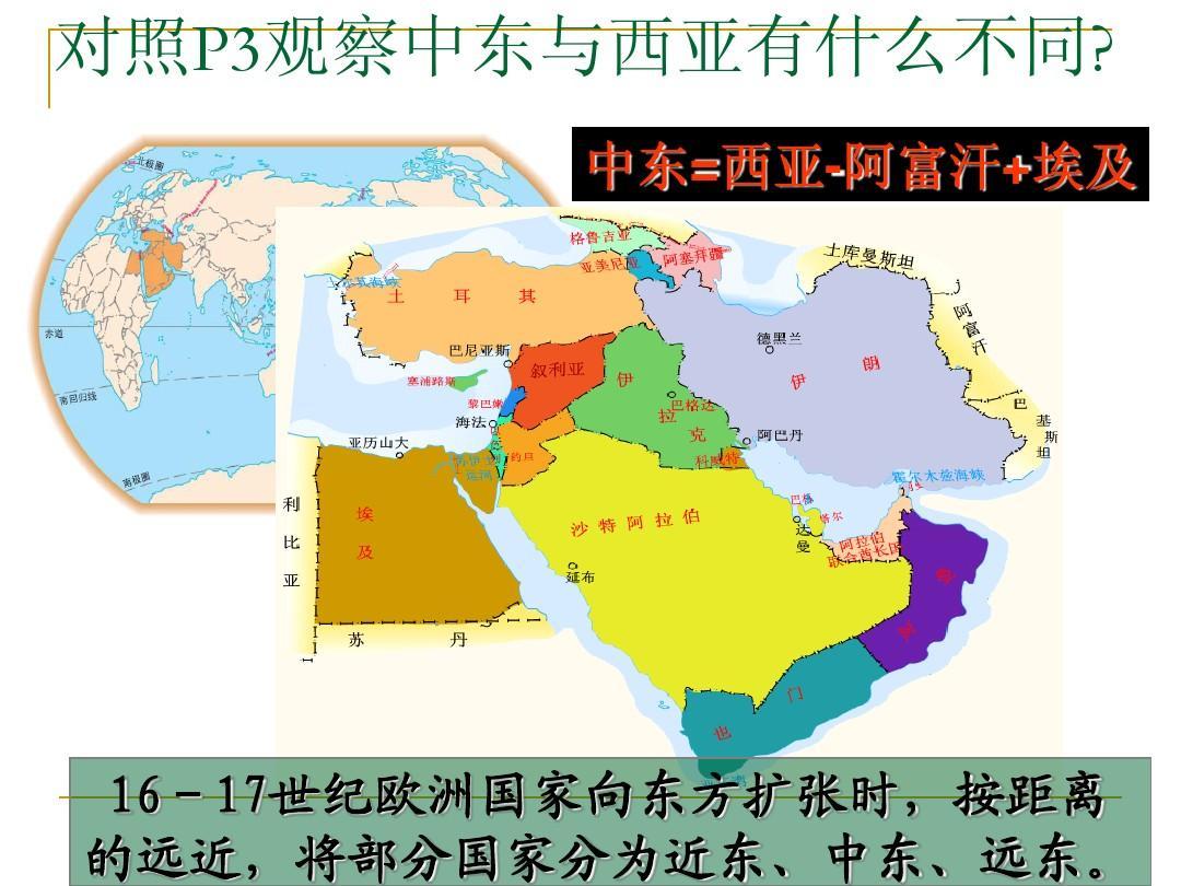 地理中东课件ppt图片