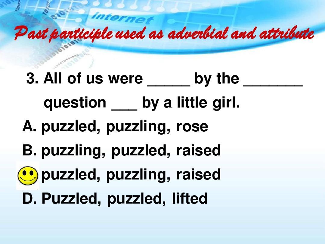 人教版英语选修5第三单元语法过去分词作定语和状语ppt