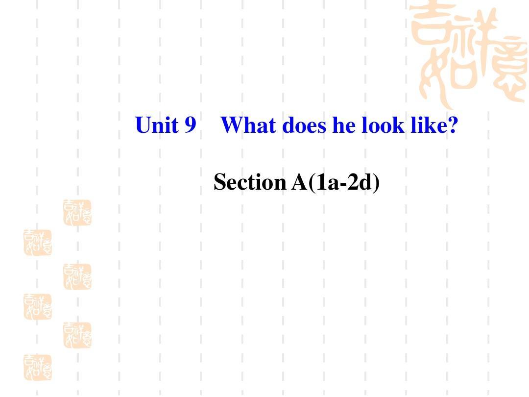 七年级英语下册 Unit 9 What does he look like Section A(1a-2d)课件 (新版)人教新目标版