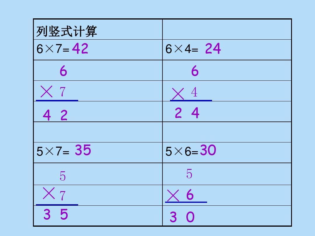 北师大版数学二年级上册乘法竖式作业答案ppt图片