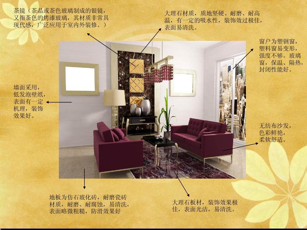室内设计材料分析ppt图片