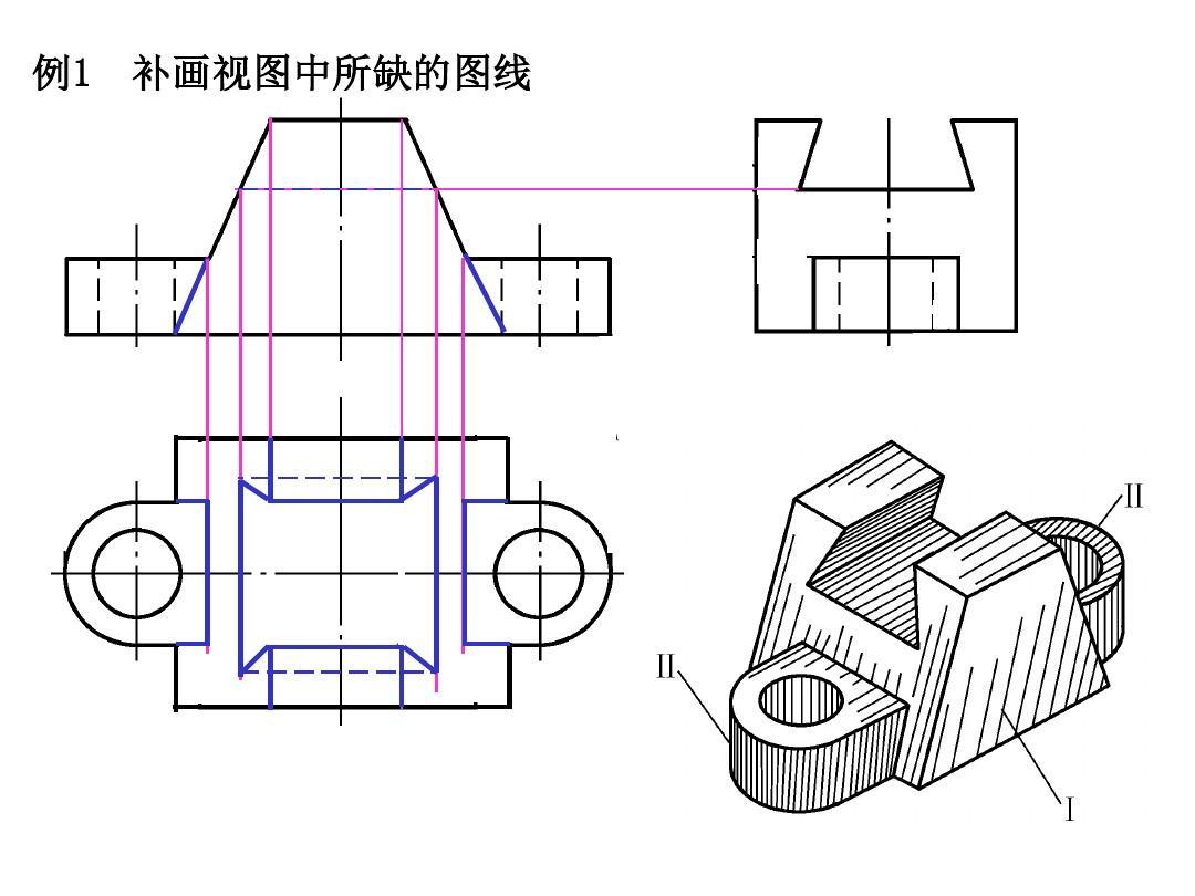 机械制图——根据已知视图补画第三视图(三)ppt图片