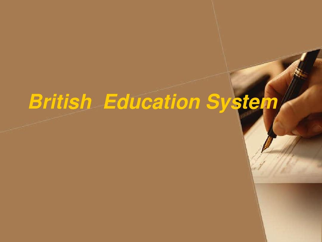 Chapter - 6.British  Education SystemPPT