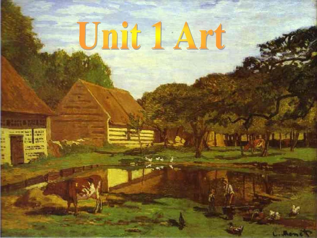 Book6 Unit1_Art---Reading教师课件PPT