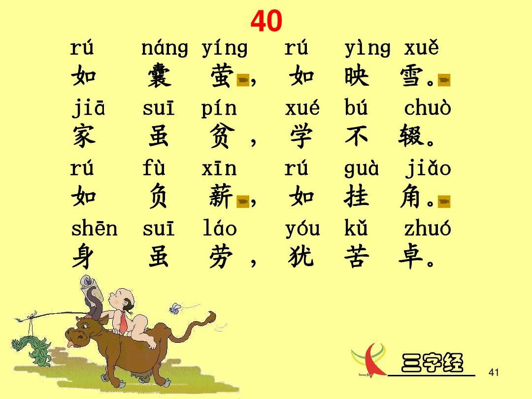 三字经带拼音课件(带指导朗诵)ppt