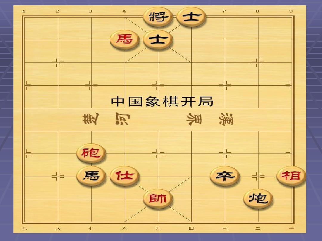 中国象棋杀法 中国象棋口诀 中国象棋教案 象棋走法 象棋棋谱 中国图片