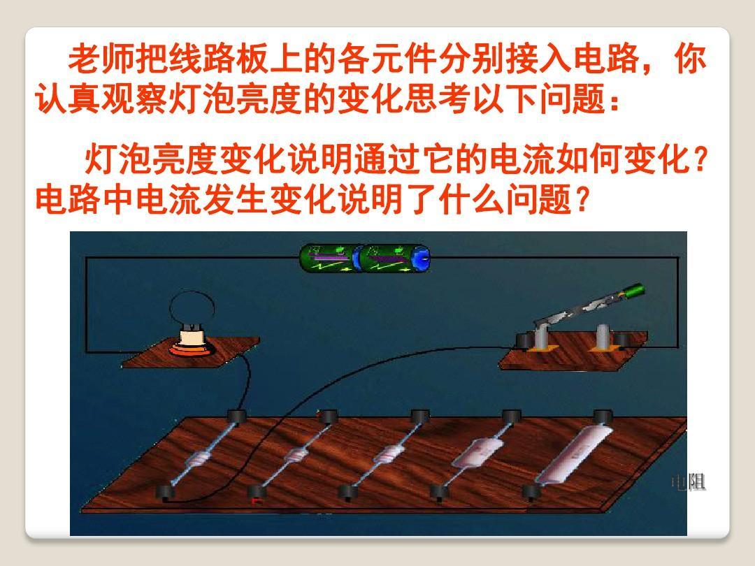1《电阻和变阻器》ppt课件(1)地球一个只有说课稿一等奖图片