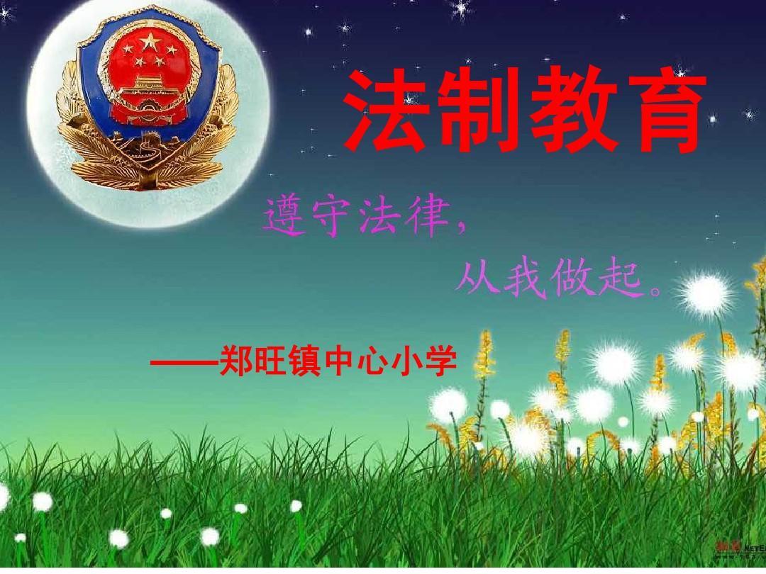 小学生法制教育主题班会(课件)PPT