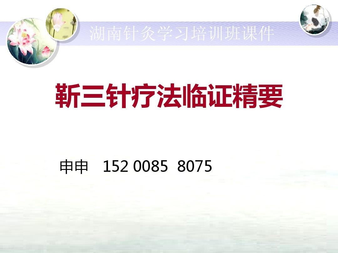 新余针灸培训班学习班课件靳三针疗法临证精要PPT