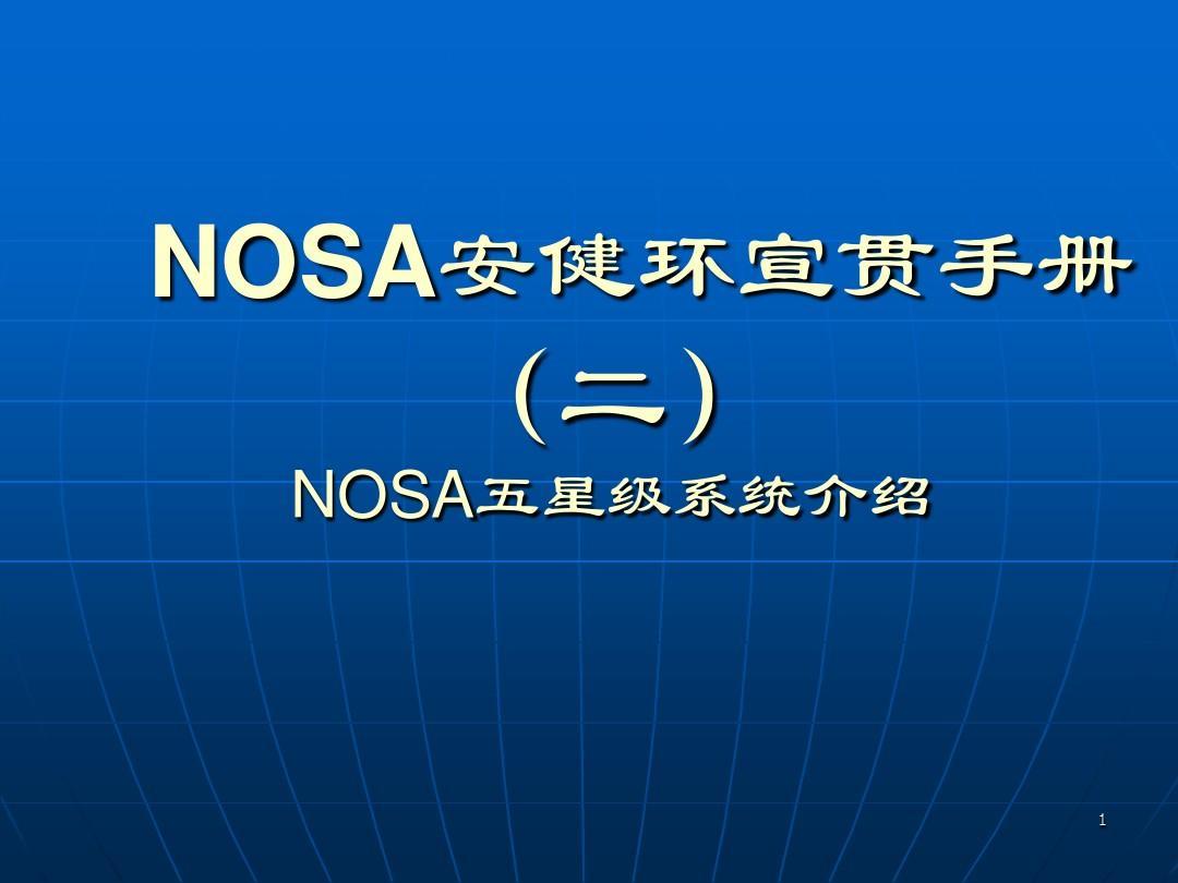 NOSA 安健环宣传手册二