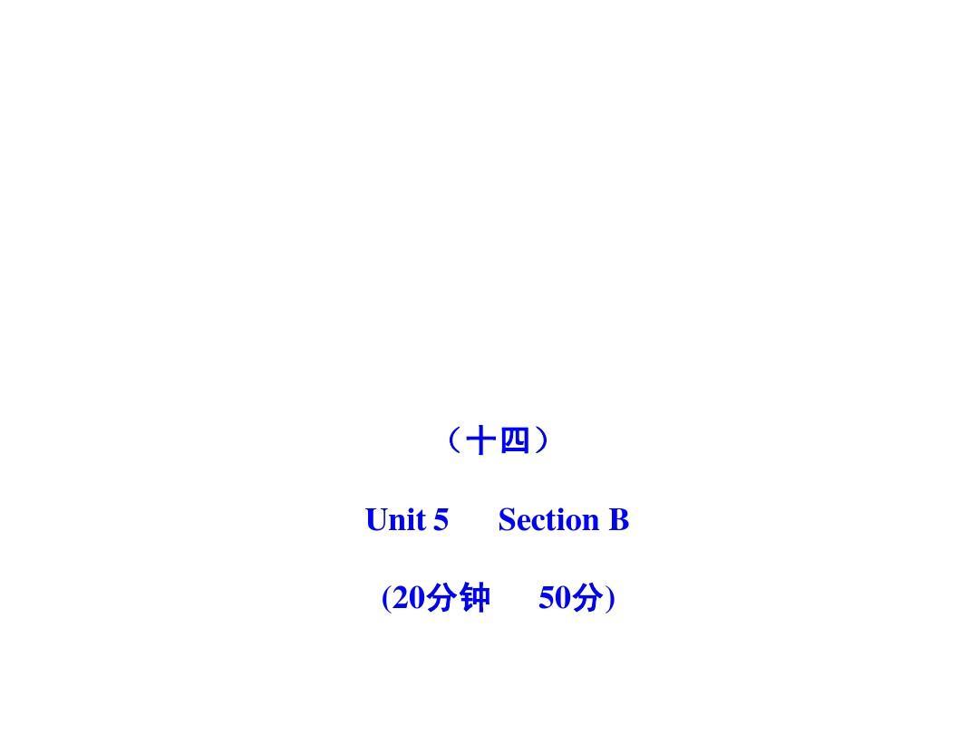 2011版初中英语新课标金榜学案配套课件:能力提升练(十四)(人教版九上)