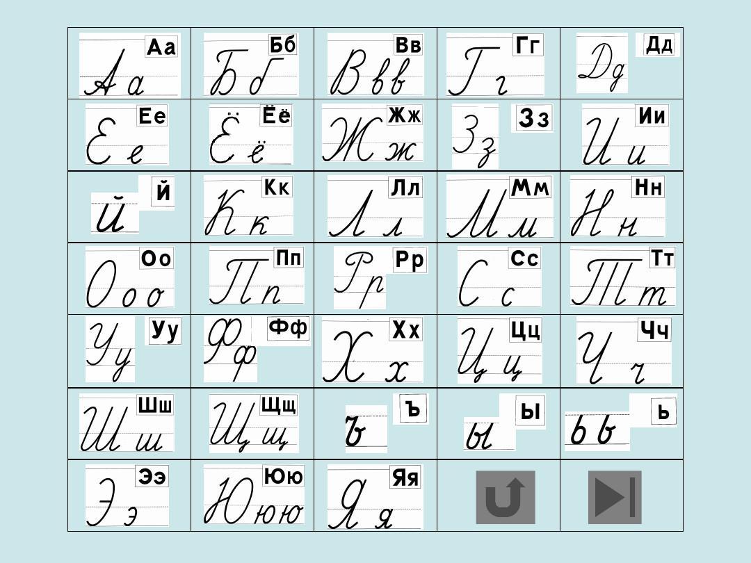 俄语字母手写体 写法ppt