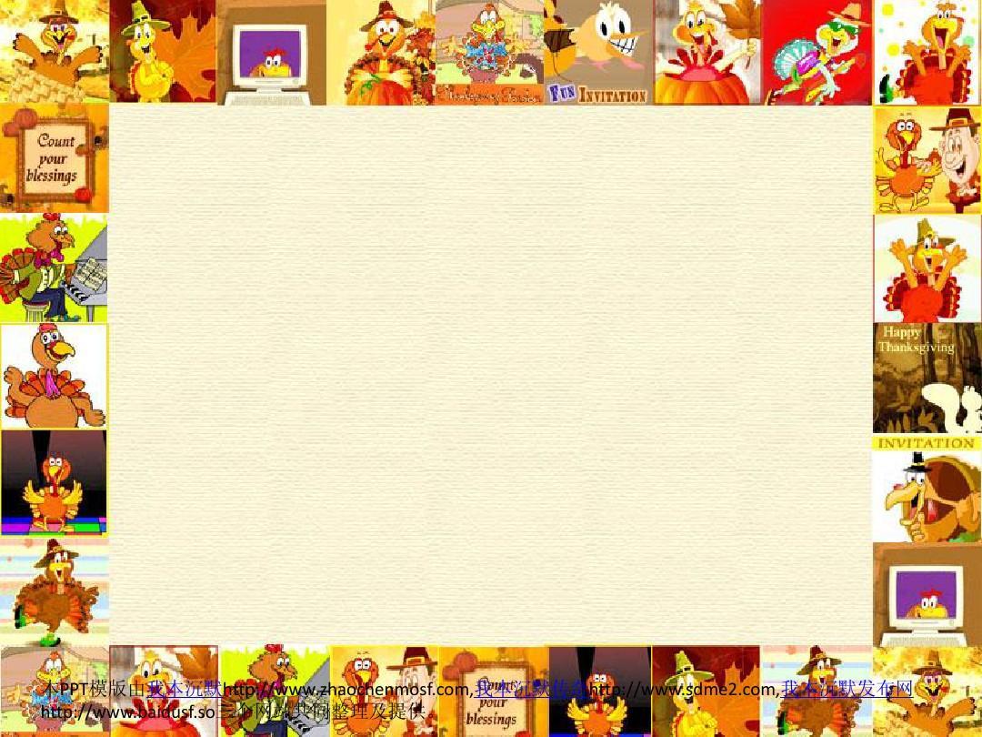 ppt卡通小鸡背景素材图片