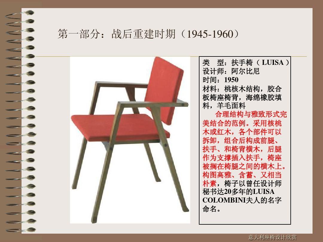 意大利经典椅子v经典ppt白云设计素材图片