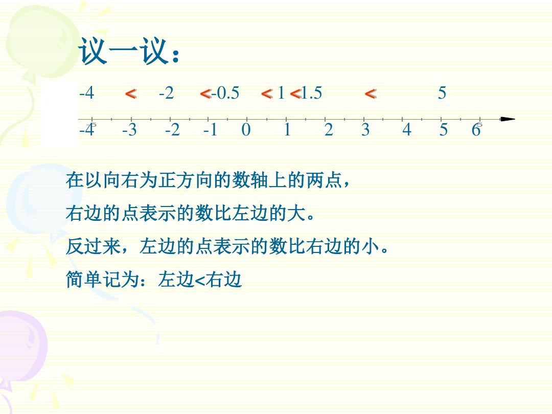 七年级数学有理数的大小比较ppt