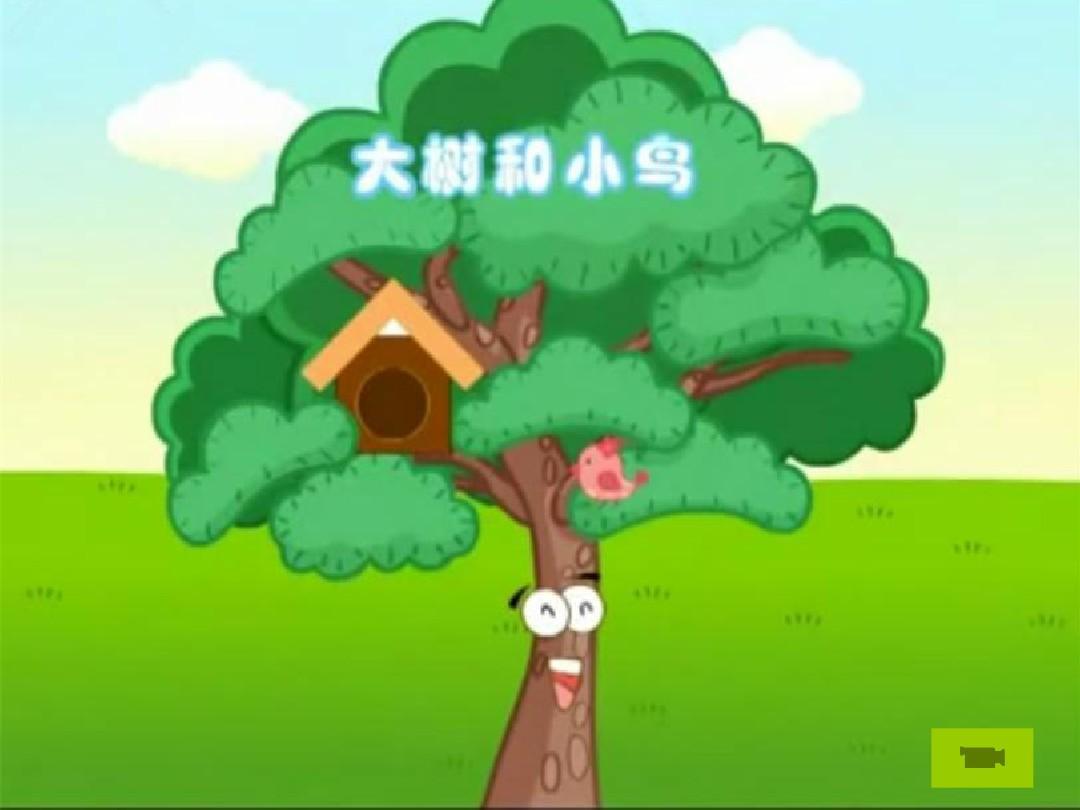 中班语言-大树和小鸟ppt图片