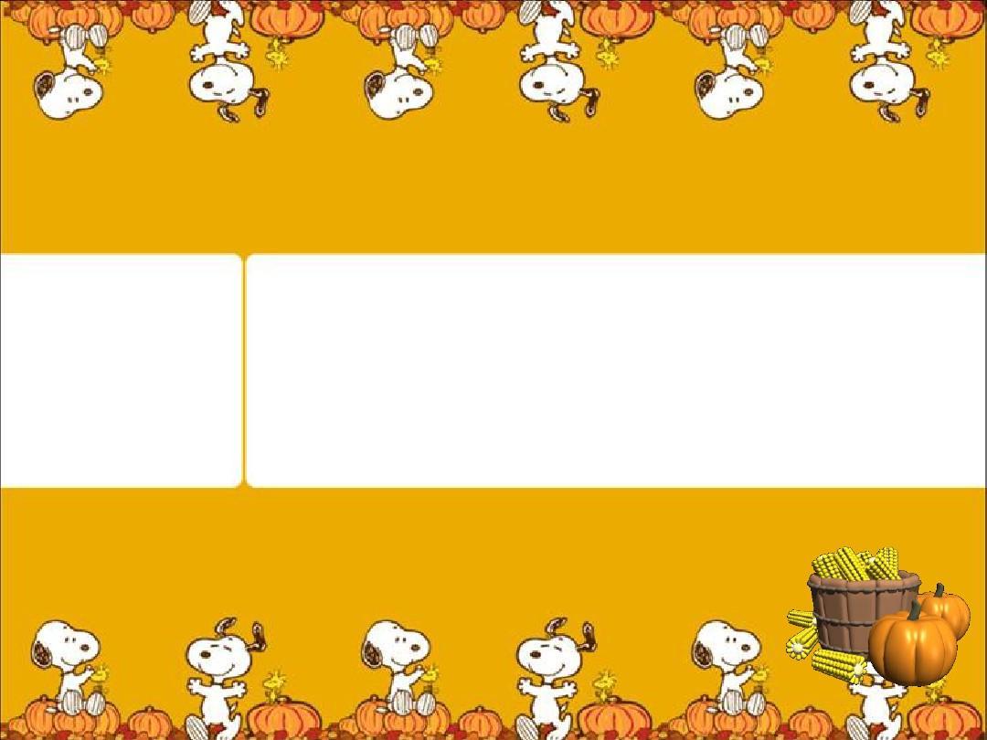卡通版感恩节演示模板ppt图片