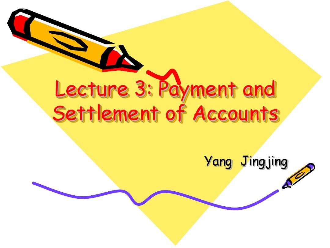 BC3--(new32)payment and settlement of account