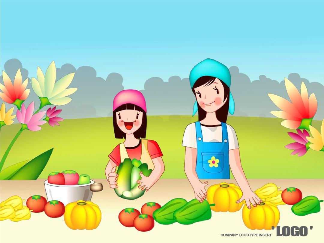 蔬菜水果 可爱ppt 好看ppt模板 餐饮ppt模板 ppt背景图片免费下载图片