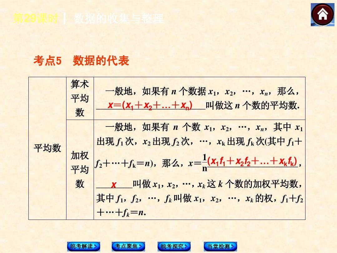 2014年安徽中考数学复习方案 第8单元 统计与概率课件