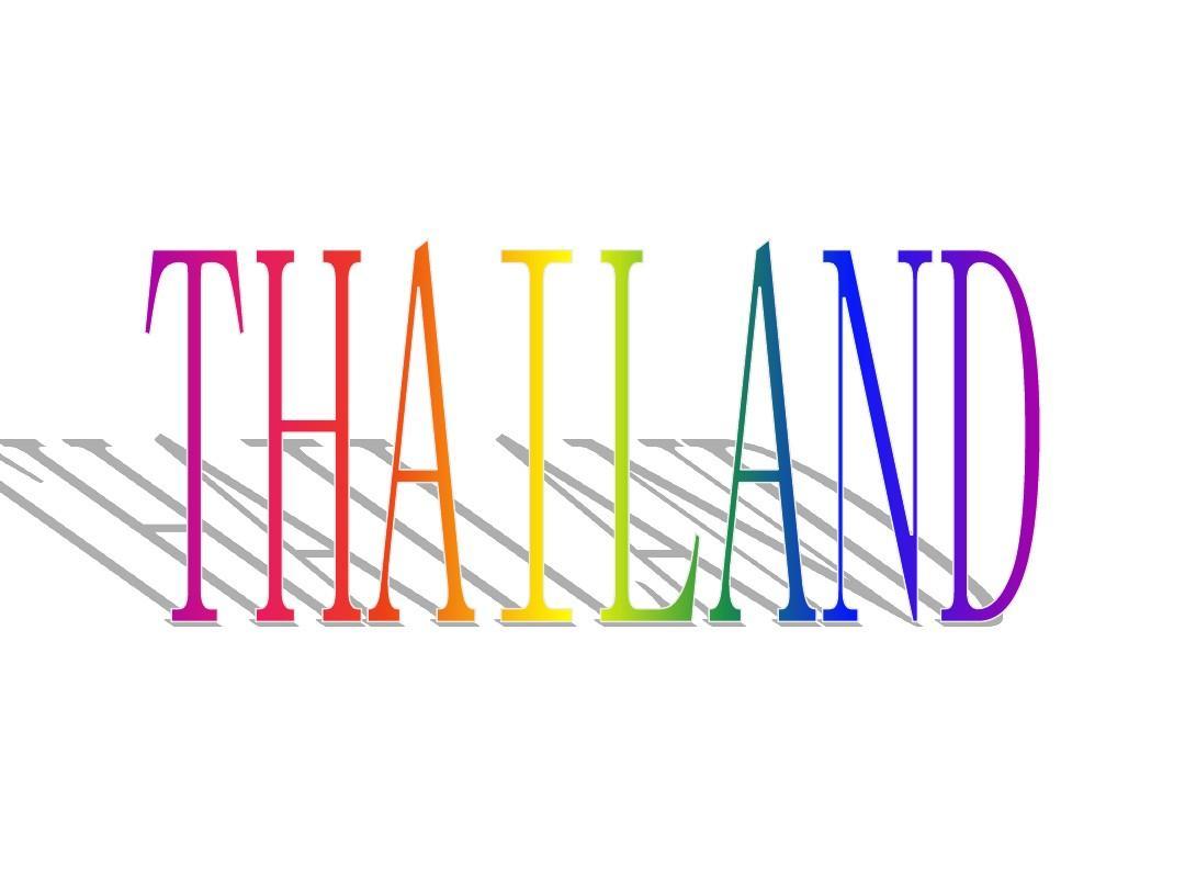 泰国英文介绍PPT