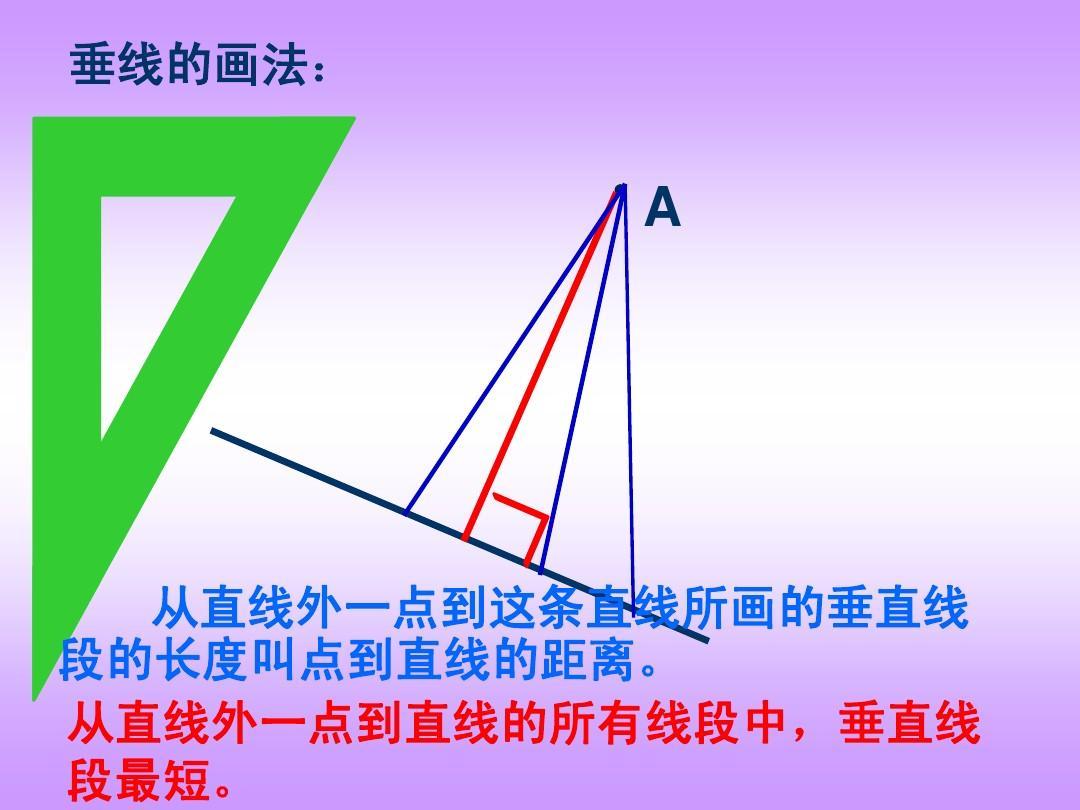 过直线上,外一点画已知直线的垂线和平行线画法的演示图片
