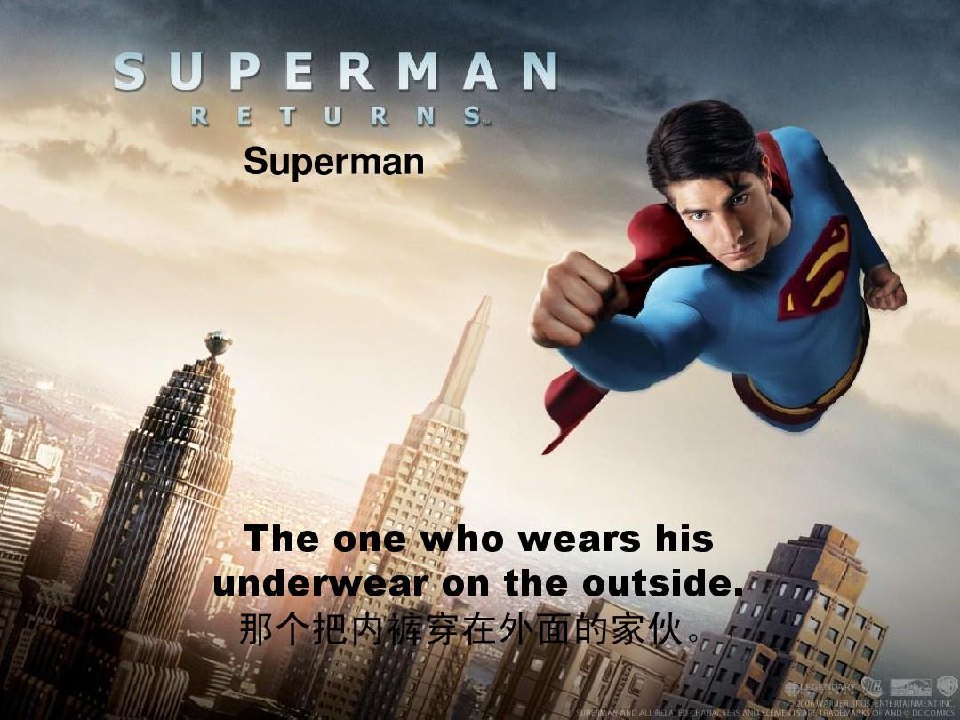 英语课presentation美国电影中的超级英雄ppt图片
