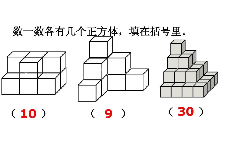 小学四年级上册苏教版数学观察正方体摆成的物体课件ppt图片