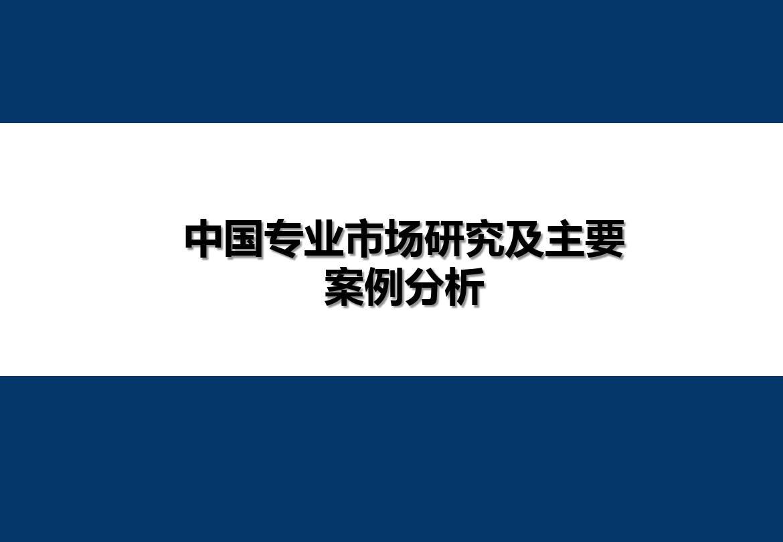中国专业市场研究及主要案例分析