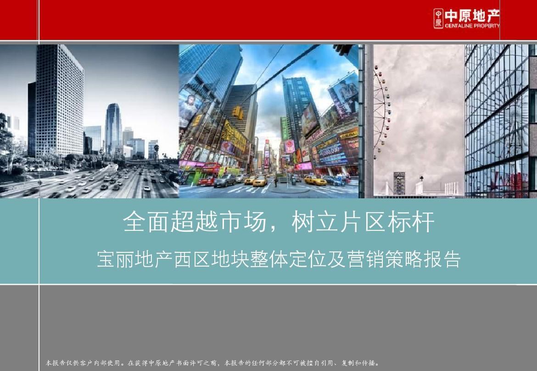 宝丽地产项目整体定位及营销策略报告