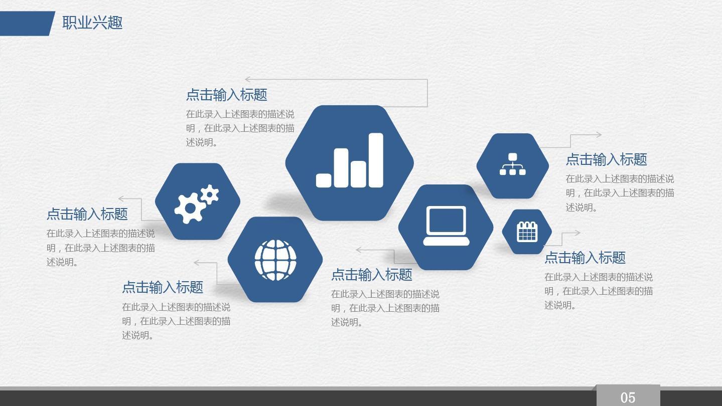 【精选】蓝色简约商务大学生职业规划总结ppt模板ppt精美模板图片