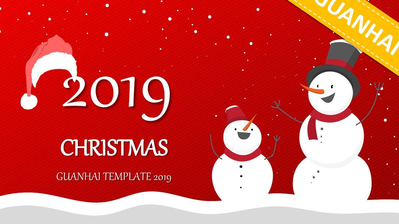 动画20XX年圣诞节快乐PPT模板
