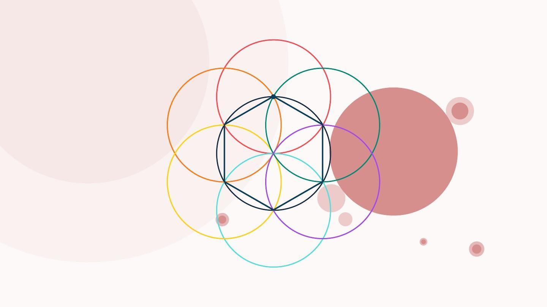 多彩六边形 创意简约商务演示汇报 ppt模板图片