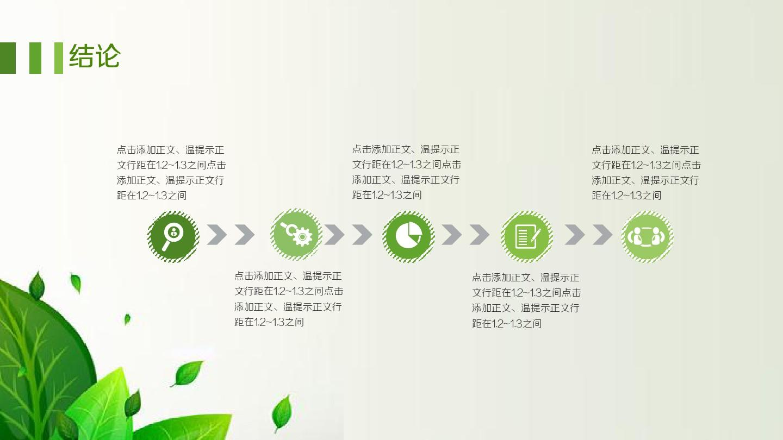 绿色小清新草木简约大学生职业规划总结ppt图片