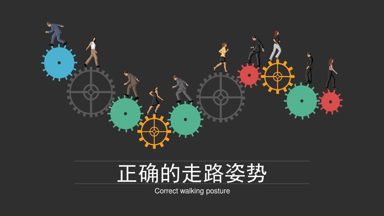 正確的走路姿勢ppt圖片