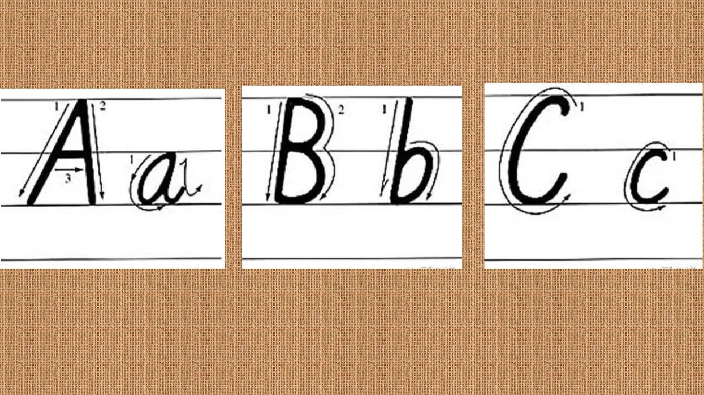 26個英文字母標準書寫格式ppt圖片