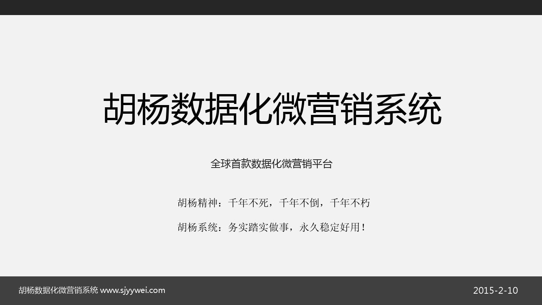 胡杨数据化微营销 运营方案