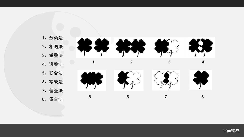 文档网 所有分类 人文社科 设计/艺术 平面构成造型法ppt  1,分离法 2图片