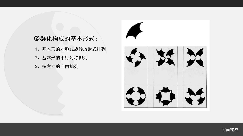 设计/艺术平面构成造型法ppt群化构成的基本形式:1基本形的对称图片