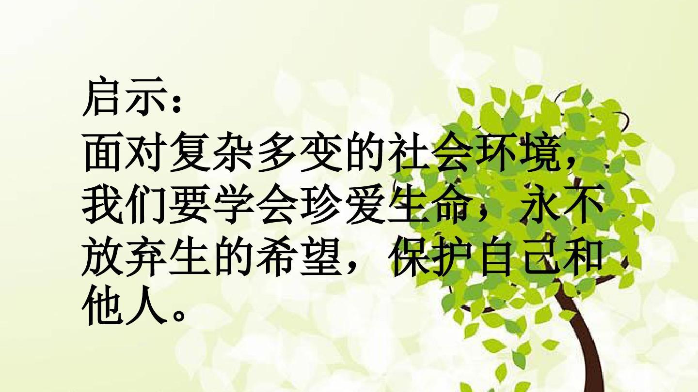 生命的思考第九课珍视生命第一框守护生命课件2新人教版(共28页ppt)