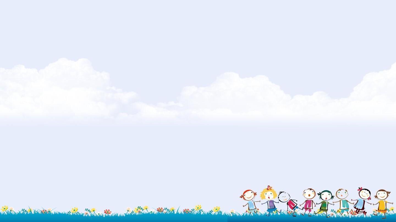 可爱卡通儿童教育教学课件班会ppt模板_word文档在线图片