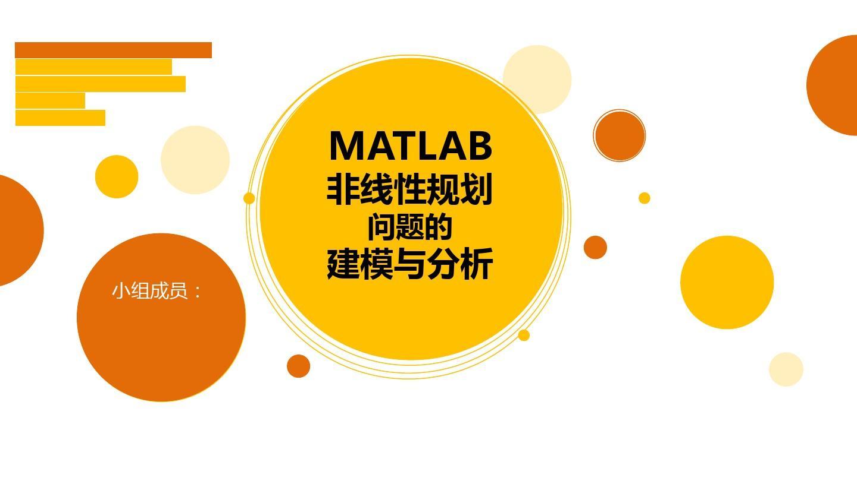MATLAB非线性规划建模灵敏度分析PPT王星莹平面设计长春图片